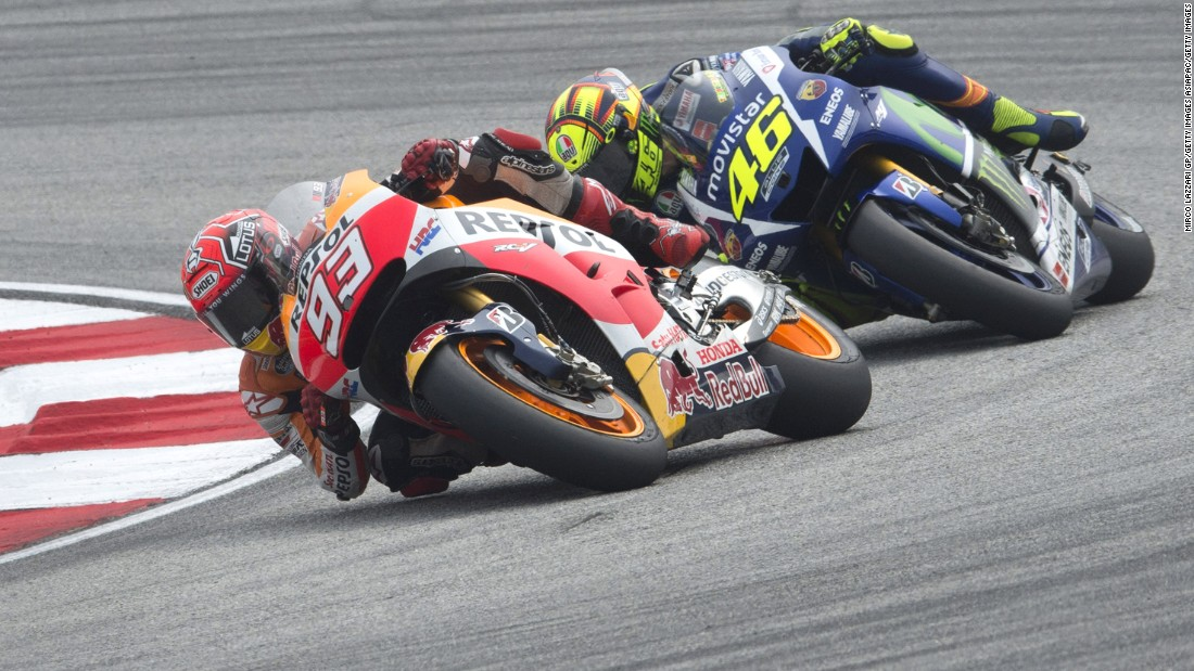 The 22 year-old Marquez wants a fresh start with nine-time world champion  Rossi. The two riders tangled in the penultimate round in Malaysia after Rossi forced the Spaniard wide, with the Italian appearing to kick out at his rival's bike, causing him to crash.