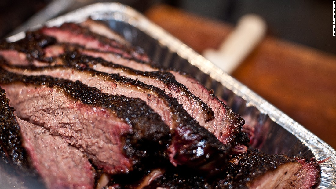 Franklin is regularly referred to as the best barbecue joint in America. Customers wait in line for hours for a taste of the restaurant's signature brisket.
