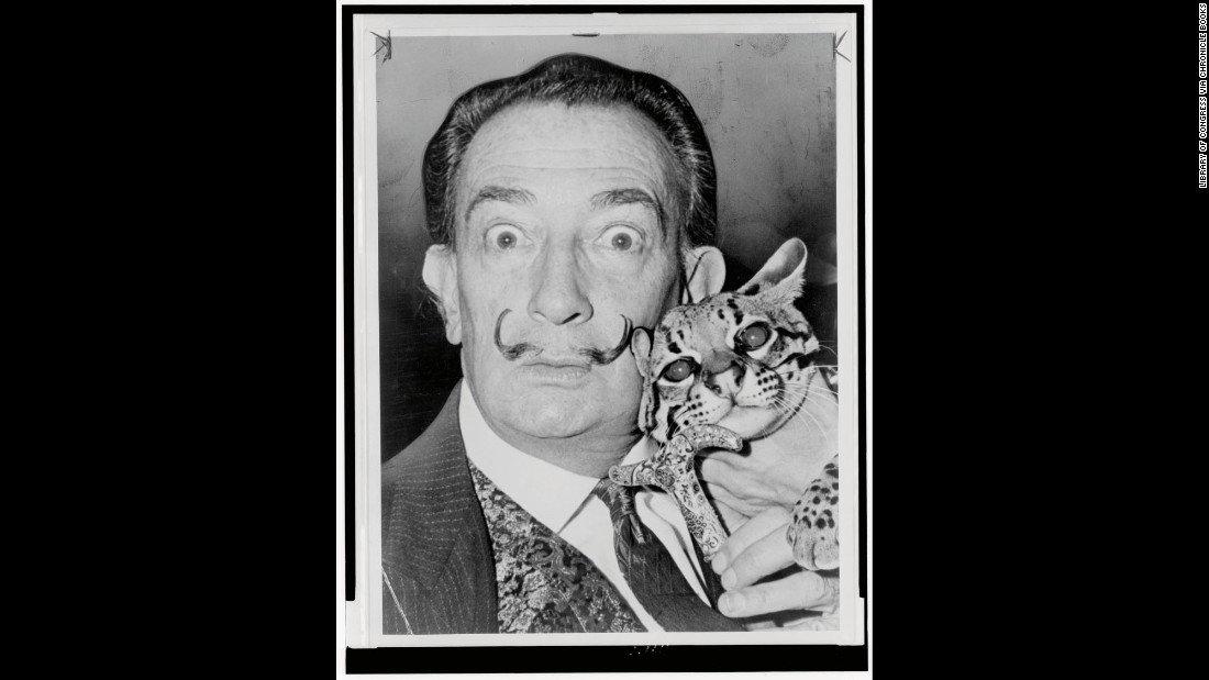 "OK, so Salvador Dali wasn't a cat lover, per se. He did, however, like members of the cat family -- including his pet ocelot, Babou. The ocelot regularly accompanied Dali to such places as restaurants and autograph signings. Not that Dali was above other felines -- just <a href=""http://www.cnn.com/2015/10/08/entertainment/gallery/tbt-philippe-halsman-jump-book/"">check out the photo he did for Philippe Halsman's ""Jump Book."" </a>"