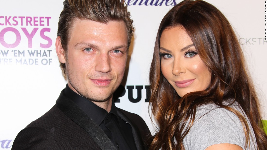 """It's a Backstreet baby! Backstreet Boy and """"Dancing With the Stars"""" contestant Nick Carter and his wife, Lauren Kitt Carter, welcomed son Odin Reign Carter on April 19. The couple married in 2014."""