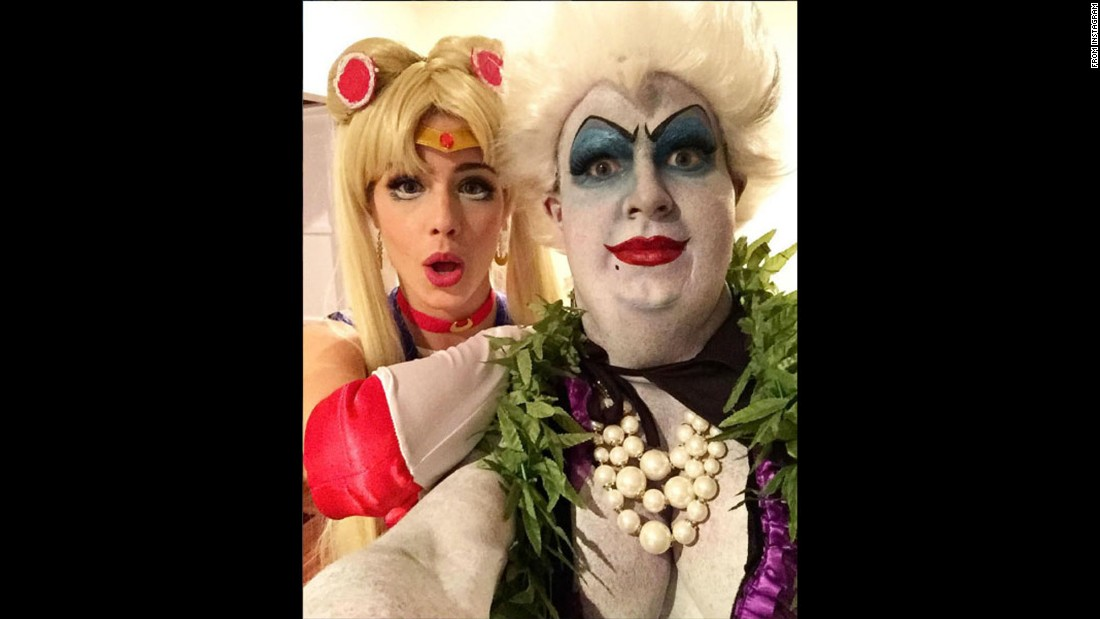 actor colton haynes and actress emily bett rickards reveal their halloween costumes in a selfie shared - Halloween Costume Celebrities