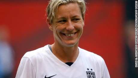VANCOUVER, BC - JULY 05:  Abby Wambach #20 of the United States of America smiles against Japan in the FIFA Women's World Cup Canada 2015 Final at BC Place Stadium on July 5, 2015 in Vancouver, Canada.  (Photo by Kevin C. Cox/Getty Images)