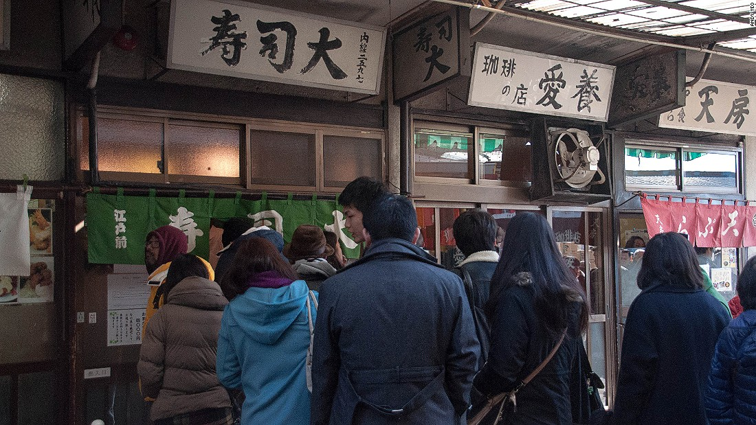 Many a Tokyo guidebook has extolled the 5 a.m. sushi breakfast at Sushi Dai. The wait can surpass four hours, and many customers start lining up at 3 a.m.