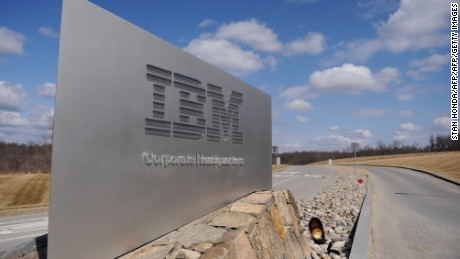 "(FILES) This March 20, 2009 f(FILES) This March 20, 2009 file photo shows a sign at the entrance to IBM Corporate Headquarters in Armonk, New York. IBM is bringing its ""cloud"" computing power to a deal with The Weather Company. Under the agreement announced October 28, 2015, IBM will acquire the product and technology operations of the group, which operates the weather.com website and mobile application, among others. The deal allows IBM to use its Watson supercomputer to collect and analyze weather data for the weather.com websites and mobile app, which handles 26 billion inquiries each day. AFP PHOTO/Stan Honda/FILESSTAN HONDA/AFP/Getty Imagesile photo shows a sign at the entrance to IBM Corporate Headquarters in Armonk, New York. IBM is bringing its ""cloud"" computing power to a deal with The Weather Company. Under the agreement announced October 28, 2015, IBM will acquire the product and technology operations of the group, which operates the weather.com website and mobile application, among others. The deal allows IBM to use its Watson supercomputer to collect and analyze weather data for the weather.com websites and mobile app, which handles 26 billion inquiries each day.    AFP PHOTO/Stan Honda/FILESSTAN HONDA/AFP/Getty Images"