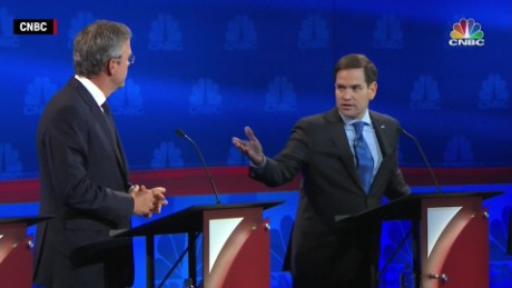 marco rubio jeb bush cnbc gop debate confrontation senate voting rate vstan orig_00003329