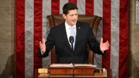 Rep. Paul Ryan, R-Wis. speaks in the House Chamber on Capitol Hill in Washington, Thursday, Oct. 29, 2015. Republicans rallied behind Ryan to elect him the House's 54th speaker on Thursday as a splintered GOP turned to the youthful but battle-tested lawmaker to mend its self-inflicted wounds and craft a conservative message to woo voters in next year's elections. (AP Photo/Andrew Harnik)