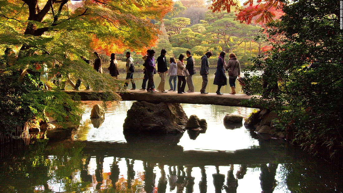 Rikugien is one of the capital's most stunning locations in late autumn. The best spot to see fall colors is around the Togetsukyo Bridge (pictured) on the northwest side of the park.