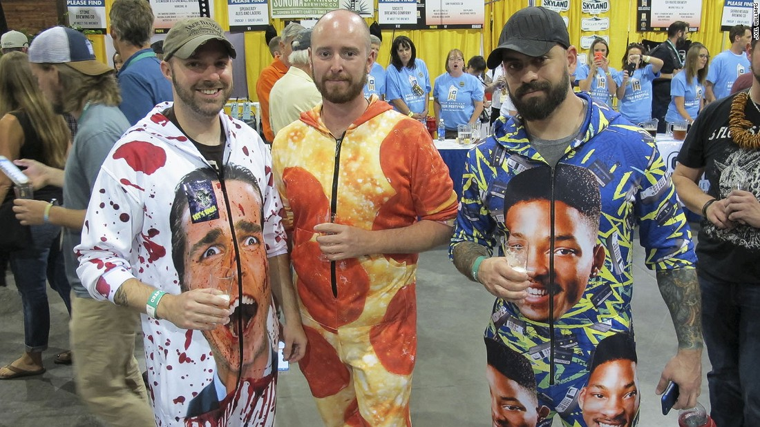 With their wacky onesies, these attendees from Connecticut managed to stand out from the crowd.