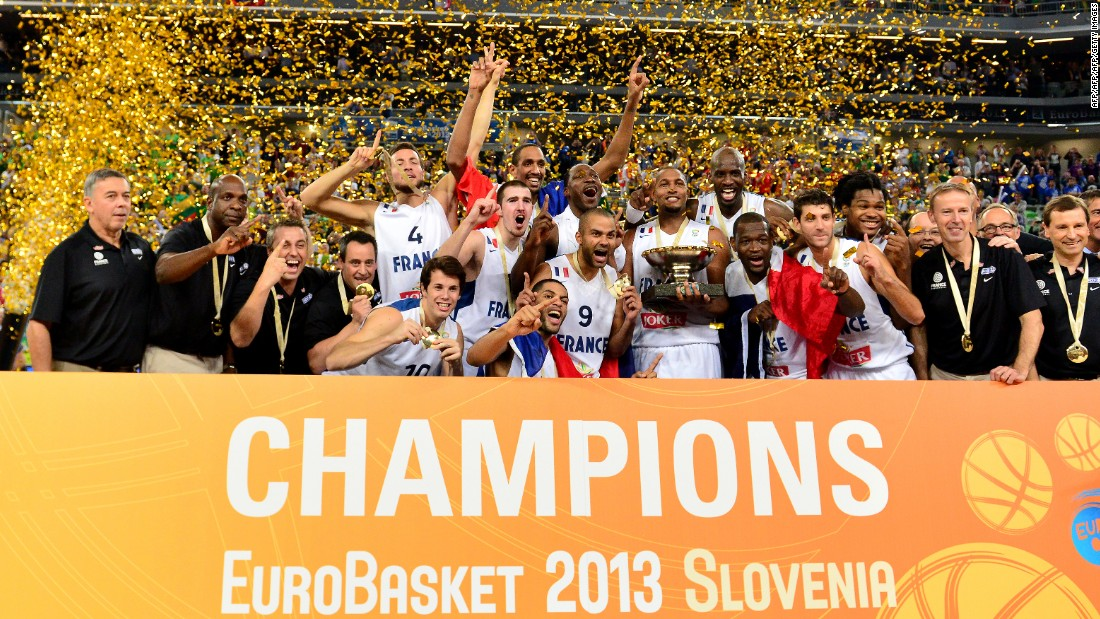 France won the European basketball championships in 2013 after beating Lithuania in the final in Slovenia.
