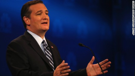 Presidential candidate Sen. Ted Cruz (R-TX) speaks during the CNBC Republican Presidential Debate at University of Colorados Coors Events Center October 28, 2015 in Boulder, Colorado.