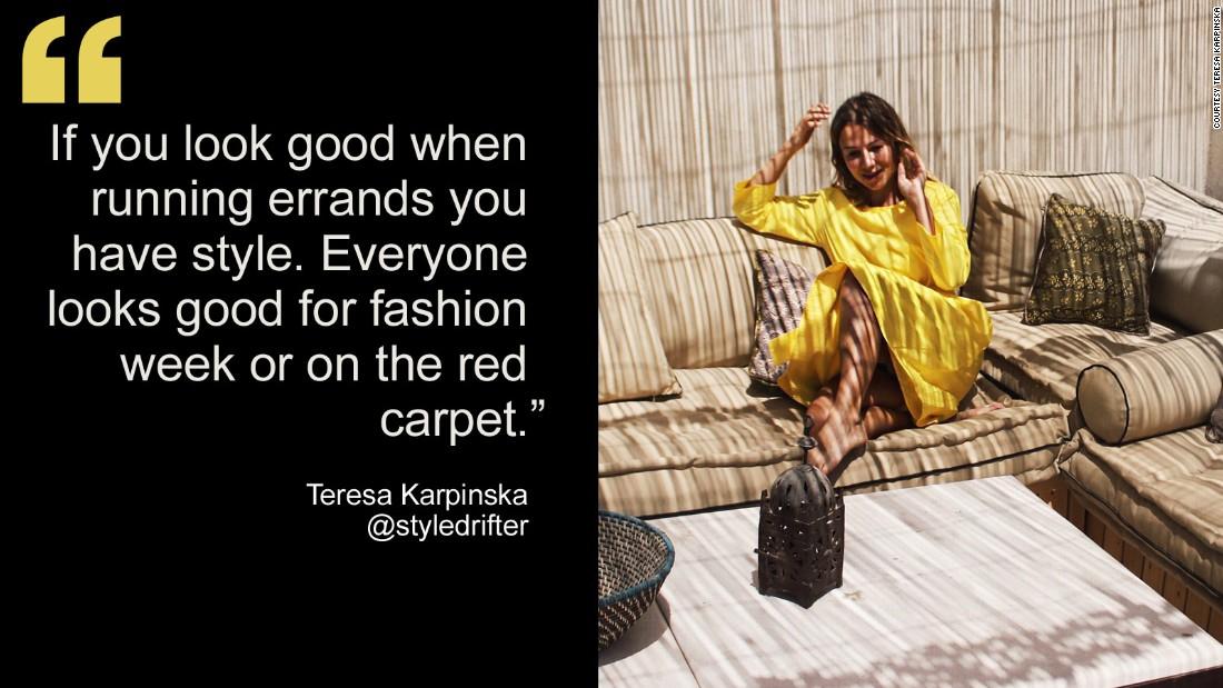 """Teresa Karpinska of <a href=""""http://styledrifter.com/"""" target=""""_blank"""">styledrifter.com</a>."""