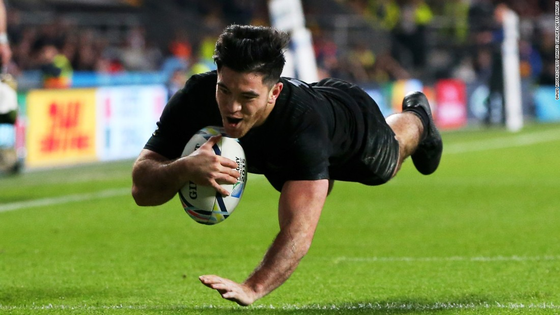 Nehe Milner-Skudder, who scored in the final, picked up the award for the breakthrough player of 2015.