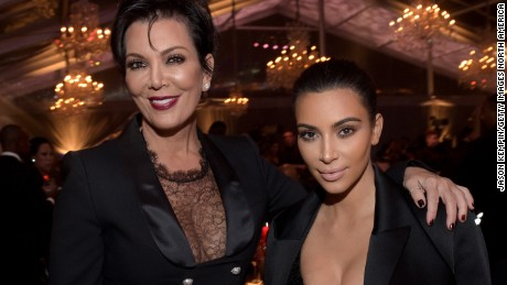 BEVERLY HILLS, CA - DECEMBER 11:  (EXCLUSIVE COVERAGE) TV personalities Kim Kardashian (R) and Kris Jenner attend The Inaugural Diamond Ball presented by Rihanna and The Clara Lionel Foundation at The Vineyard on December 11, 2014 in Beverly Hills, California.  (Photo by Jason Kempin/Getty Images for The Clara Lionel Foundation)