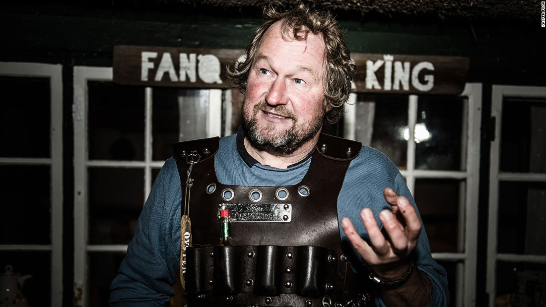 Jesper Voss is the self-anointed Fanoe Oyster King. He guides safaris off the island's coast.