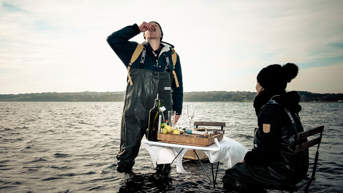 There's no official dress code at this pop-up seafood experience in Denmark's Limfjorden, but no one's going to turn you away in a pair of fashionable waders.