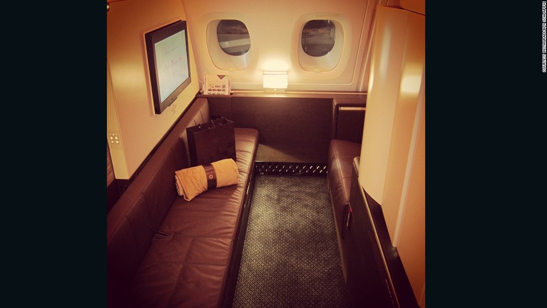 """""""My Etihad A380 First Class Apartment. This beats every other first class hard product by a mile. Period,"""" said Schlappig in this Instagram post."""