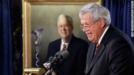 Former Speaker of the House Dennis Hastert of Illinois delivers remarks during the unveiling ceremony of his portrait at the U.S. Capitol July 28, 2009 in Washington, DC.