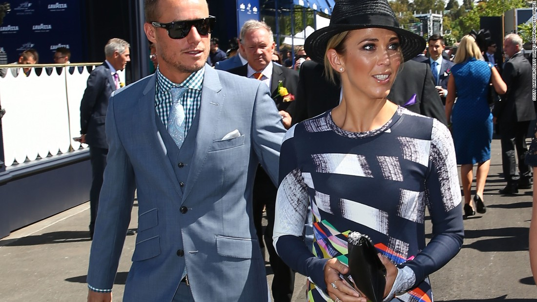 The celebrities were out in force with Lleyton Hewitt, the Australian tennis player, just one famous face at the racecourse.