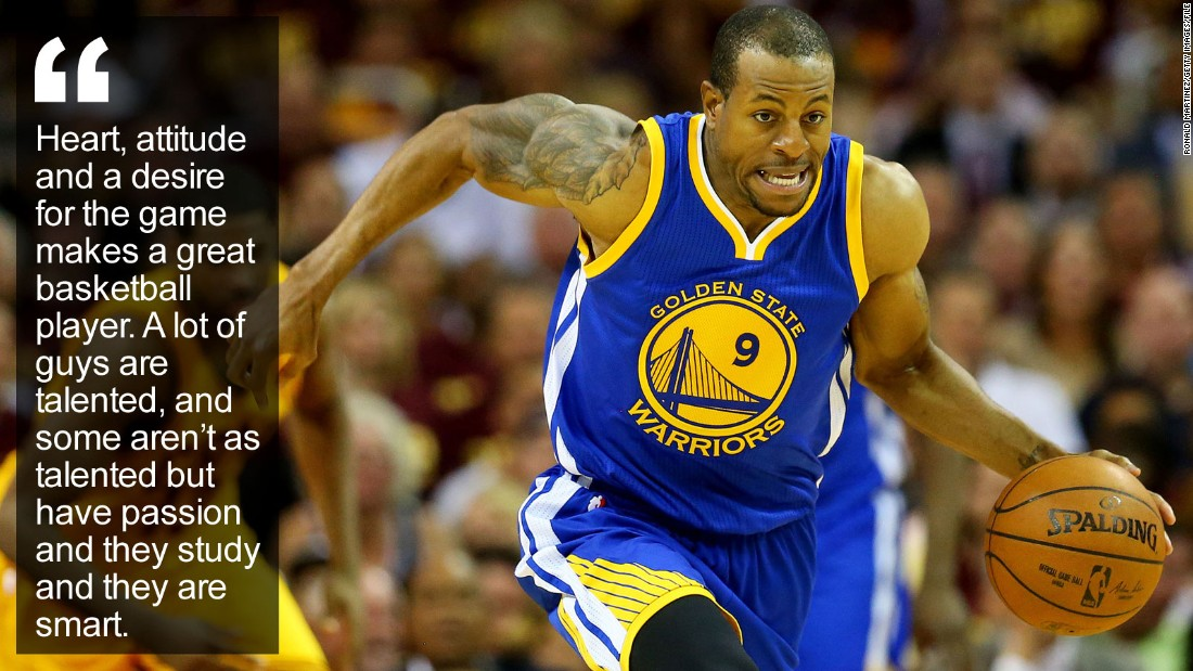 "For Andre Iguodala, basketball is a game of teamwork, selflessness, leadership and, oddly, cooking. The NBA's ""chef"" has whipped up a championship-winning recipe. <a href=""http://edition.cnn.com/2015/11/04/sport/andre-iguodala-golden-state-nba-basketball-olympics/index.html"" target=""_blank"">Read more</a>"