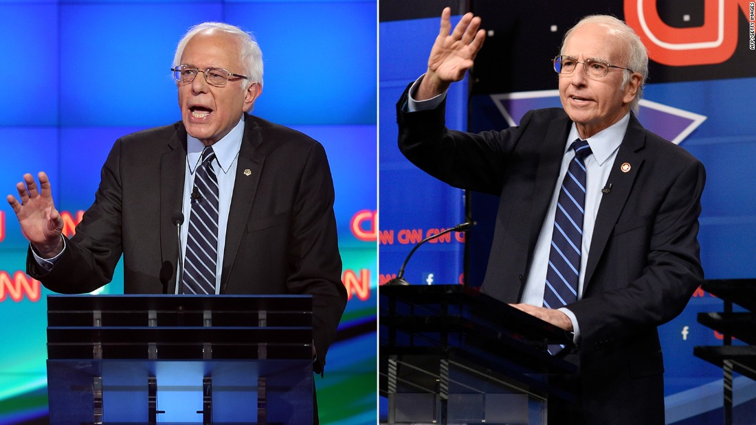 "Larry David may have been <a href=""http://www.cnn.com/2015/10/18/entertainment/larry-david-bernie-sanders-snl-feat/"" target=""_blank"">born</a> to play Bernie Sanders. The ""Curb Your Enthusiasm"" star played the presidential candidate in a skit that was a parody of the CNN Democratic debate. David received favorable reviews of his depiction of the presidential candidate."