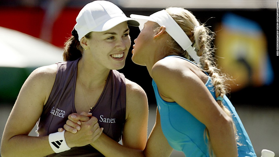 Kournikova and Hingis claimed their second major doubles win at the 2002 Australian Open.