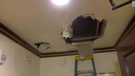 burglar falls thru restaurant ceiling pkg_00001025
