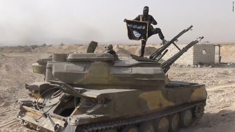 See ISIS flaunt stolen tanks