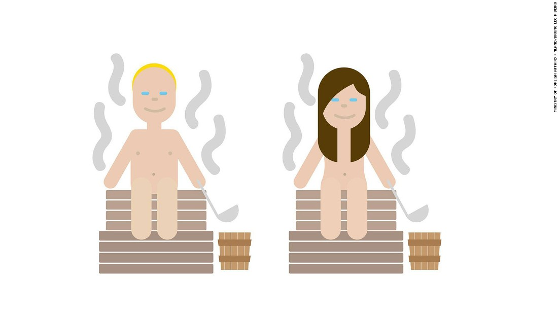 "Last year Finland produced a series of tongue-in-cheek national <a href=""/2015/11/06/travel/finland-national-emojis/index.html"" target=""_blank"">emojis</a> that it said embraced Finnish ""weirdness."" Naked sauna-goers were one of the first they released."