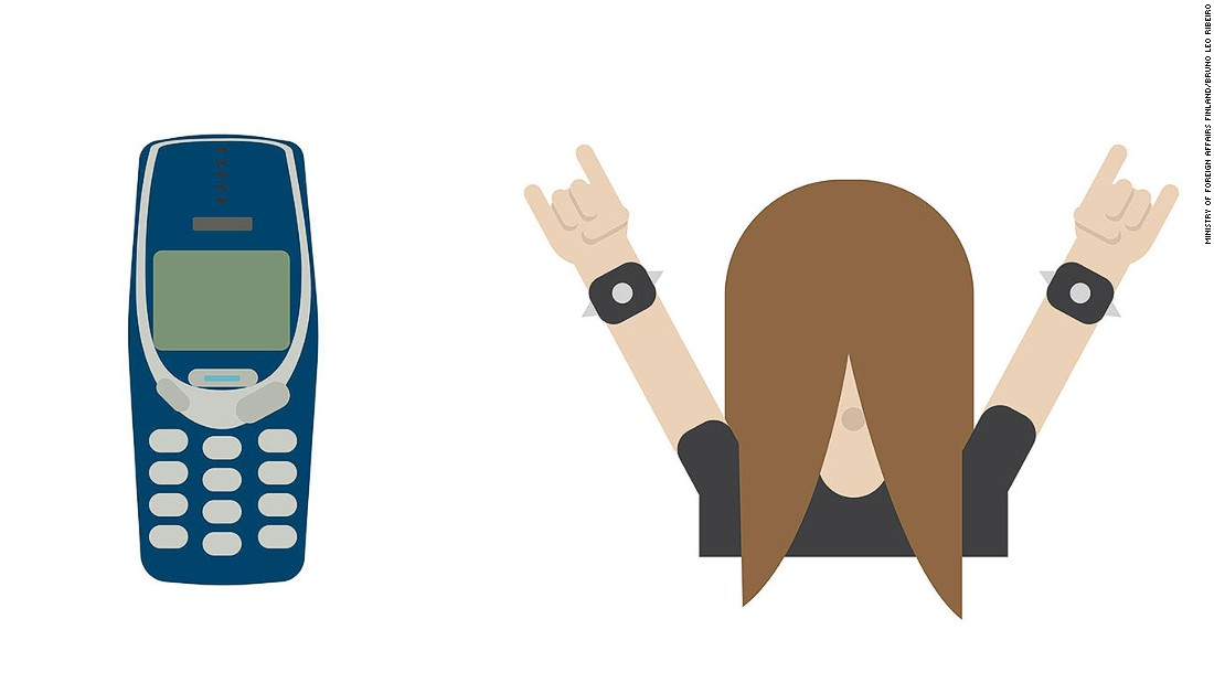 "In a nod to Finland's status as the heavy metal capital of the world, there was also a long-haired rocker emoji and one depicting an ""unbreakable"" Nokia 3310."