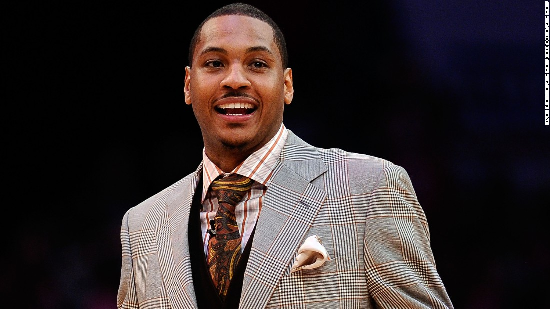 Carmelo Anthony of the New York Knicks is one of the most dapper NBA players off the court.