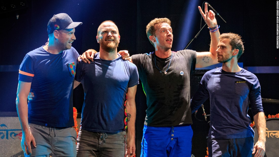 British pop-rock band Coldplay -- from left, guitarist Jonny Buckland, drummer Will Champion, frontman Chris Martin and bassist Guy Berryman -- will headline the halftime show at Super Bowl 50 in February, according to reports. Here are some of the memorable Super Bowl acts they will follow, both good and not so great.