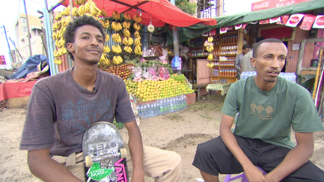 'It's the closest thing I have to flying': Meet Ethiopia's skateboard pioneers