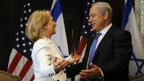 Hillary Clinton and Benjamin Netanyahu