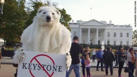 KeystoneXL Pipeline polar bear President Obama Climate Change AR ORIGWX_00004514