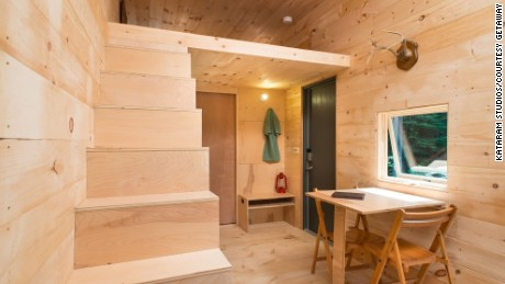 Getaway's tiny houses emphasize simplicity. Company founders encourage guests to avoid overplanning.