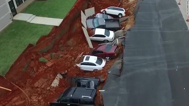 Sinkhole Mississippi drone footage newday_00001426