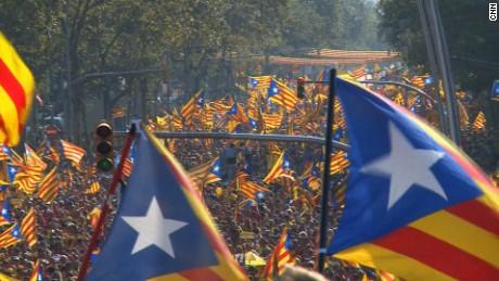 ####2014-09-14 00:00:00 Shot 09/11/2014.## 2014-09-12 07:01:01 Catalan pro-independence demonstration sept. 11, 2014 in Barcelona##