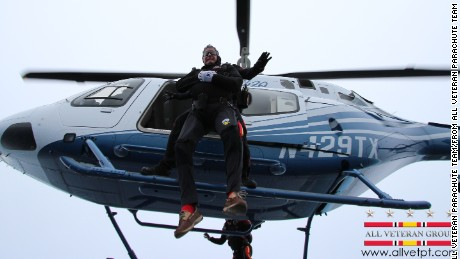 Former President George H.W. Bush Thursday celebrated his 90th birthday by skydiving near his summer home in Kennebunkport, Maine, Thursday, June 12, 2014.