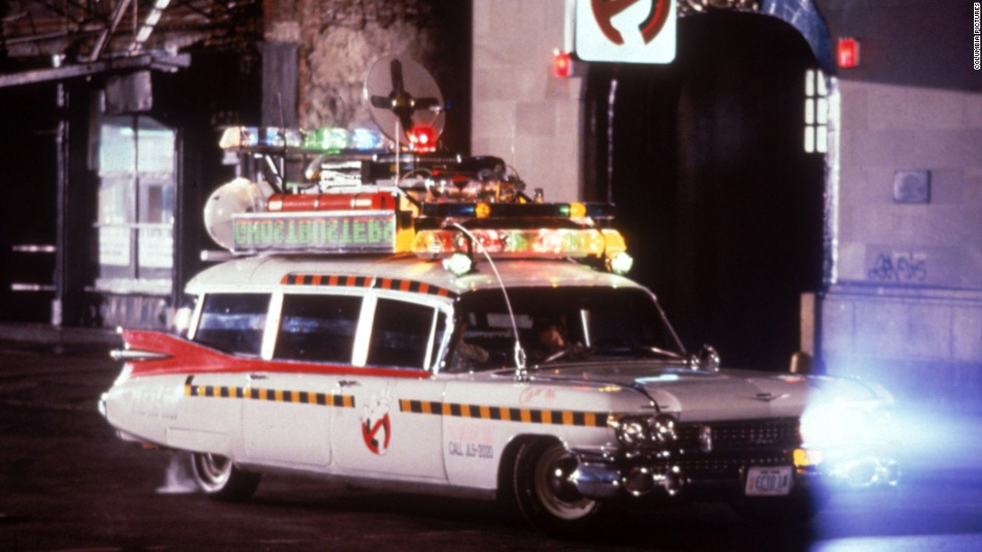 "Often referred to as the Ecto-1 in ""The Ghostbusters"" franchise, the team used the car pictured above to transport to and from the firehouse."