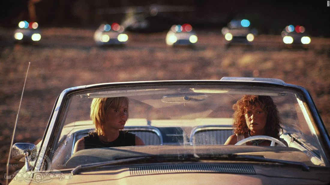 The vehicle that takes the characters of Thelma and Louise through the film's disastrous road trip is the 1966 Ford Thunderbird convertible pictured above. It belongs to Louise 's character.