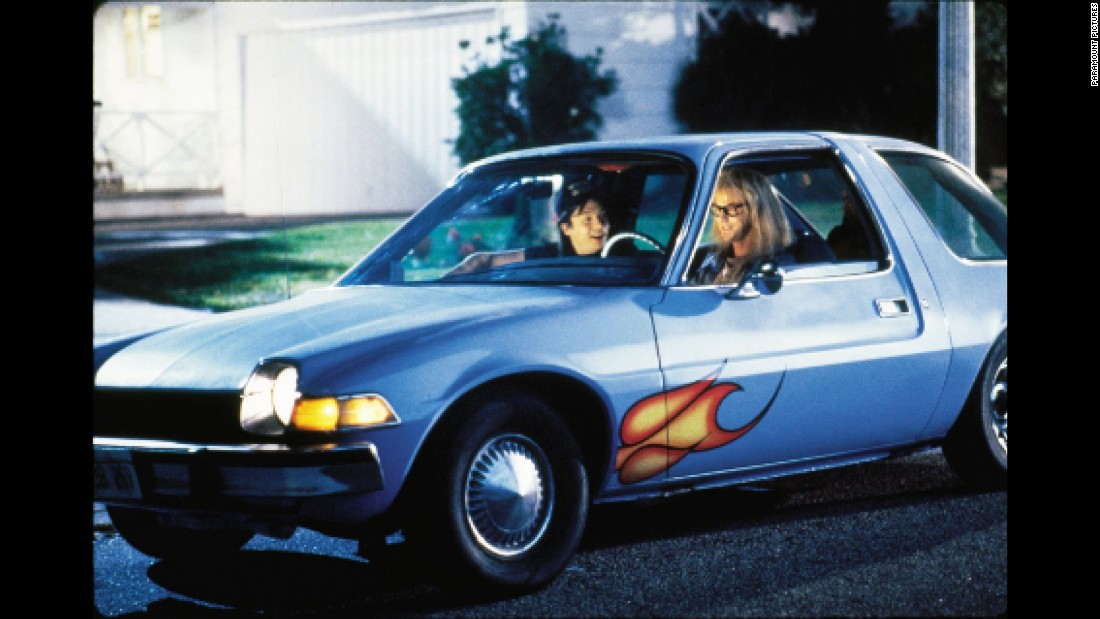 "The 1976 AMC Pacer is the car of choice for the 1992 film, ""Wayne's World."" Despite its<a href=""http://money.cnn.com/galleries/2007/autos/0708/gallery.questionable_cars/""> bad reputation</a>, the AMC Pacer from the film <a href=""http://money.cnn.com/2004/12/16/pf/autos/pacer_auction/"">previously sold </a>for $15,000."