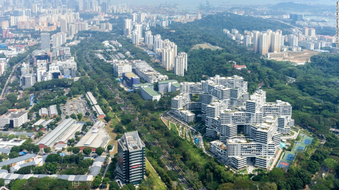 "Though set in Singapore -- a highly-planned city-state -- the Interlace envisions itself as a ""intricate network of living and social spaces intertwined with the natural environment."""
