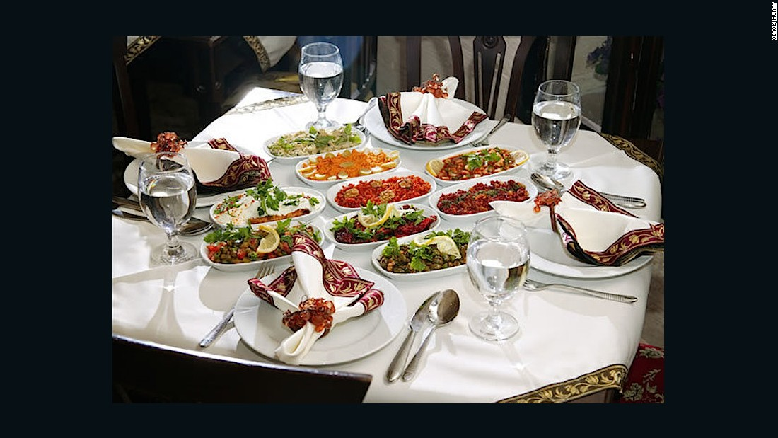 Located in a traditional 19th-century konak (stone mansion), Cercis Murat Konagı offers authentic Mardin cuisine including delicious local kebabs like kazan kebabi -- made with eggplant, minced beef, tomatoes and onions.