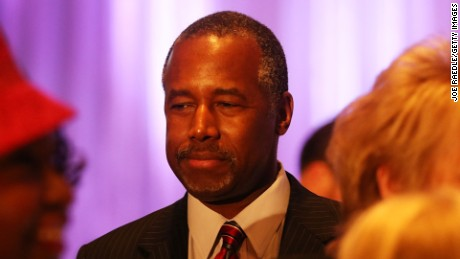 Republican presidential candidate Ben Carson attends a gala for the Black Republican Caucus of South Florida at PGA National Resort on November 6, 2015 in Palm Beach, Florida.