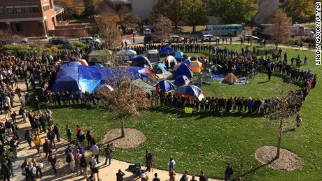 Missouri University students stood together in support of Tim Wolfe's resignation