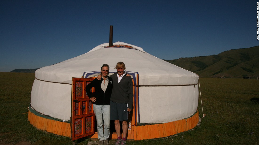 Visitors can stay in traditional yurts during their stay in Mongolia.