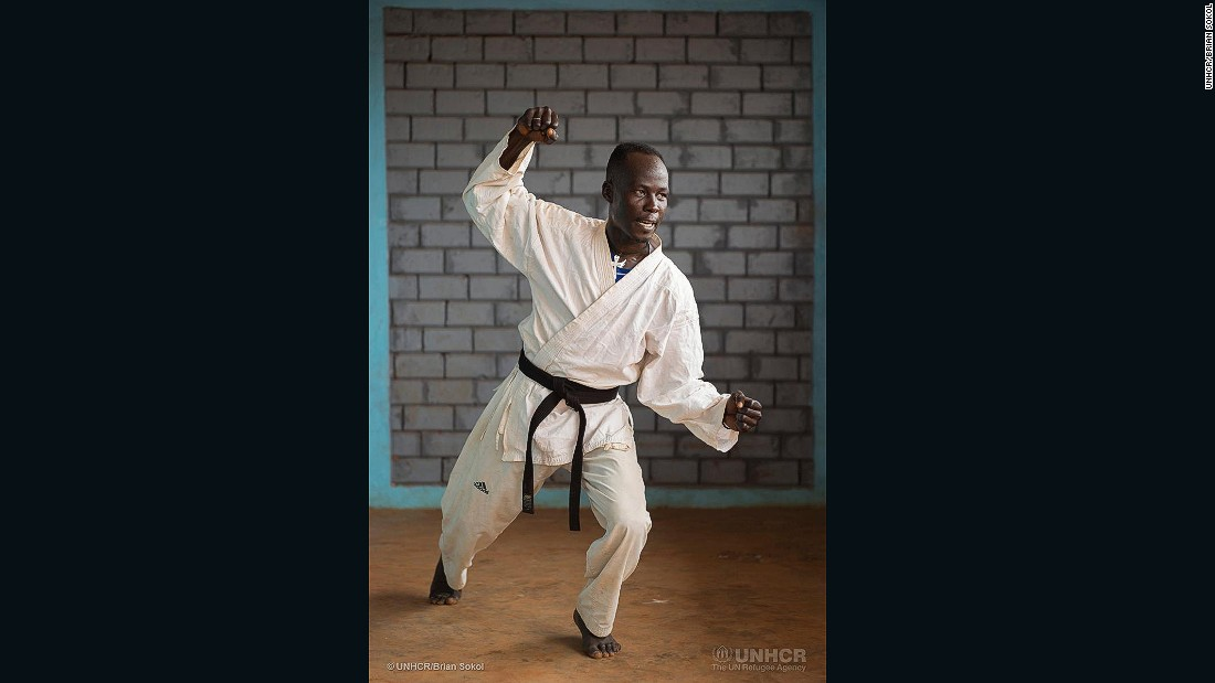 "Martial Nantouna, 36, won the national championship in karate for his age group in 1998 and 2000, and was named runner-up for all of Africa in 1998. <br /><br />""My best performance was at the Africa championship. I brought back two medals: the silver medal for the individual games and the bronze medal for the team. I am still on the national team."""