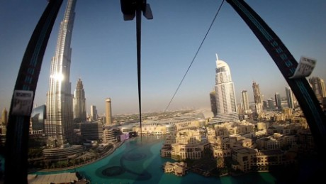 Experience a mind-blowing zip line ride through Dubai