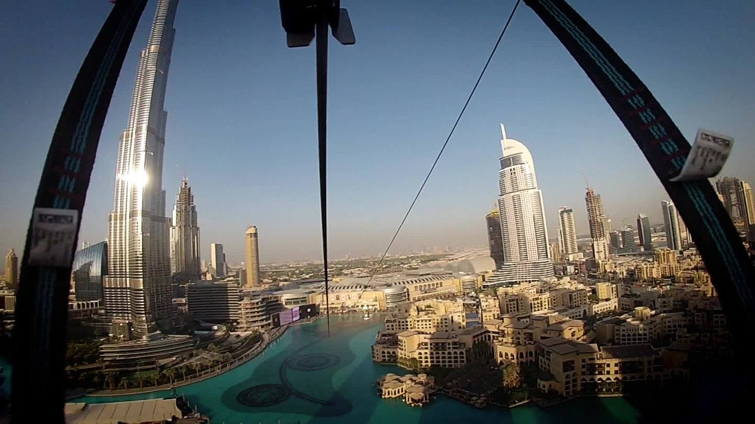 In 2015 Dubai featured one of the world's only urban zip lines. Thrill seekers begin at 300 feet and reach speeds of up to 50 miles per hour, traversing through downtown Dubai.