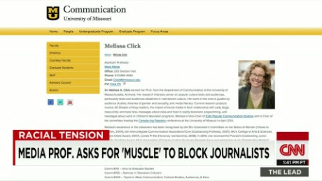 Media prof. asks for 'muscle' to block student journalist